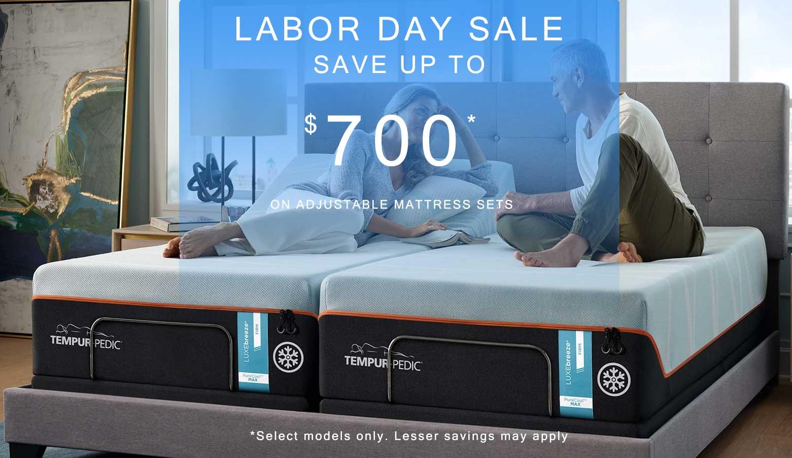 Save $700 On select Tempur-pedic Mattress sets
